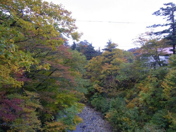 夏油川を包む紅葉