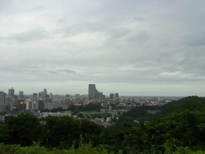 青葉城から望む仙台城下