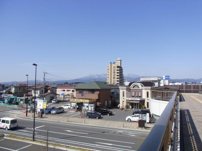 西那須野駅から望む那須の山並み