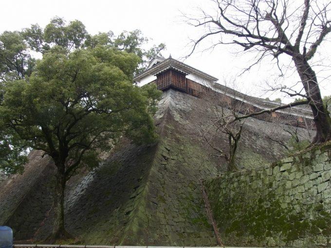 熊本城緻密に積まれた石垣