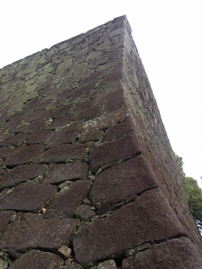下から見上げる熊本城石垣武者返し