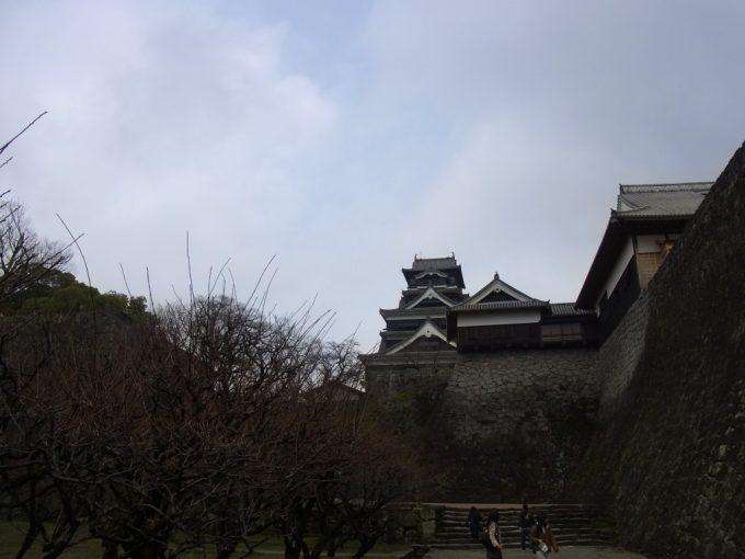 ようやく見えてきた熊本城天守閣