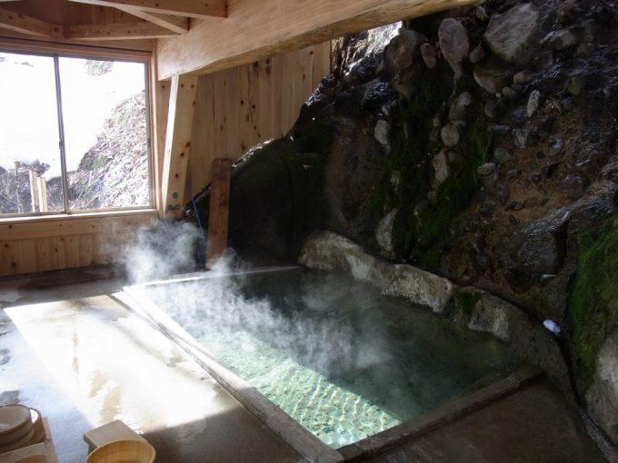 二岐温泉柏屋旅館混浴自噴巖風呂