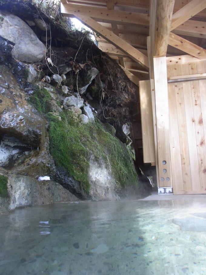 二岐温泉柏屋旅館野趣あふれる自噴巖風呂
