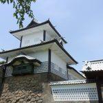 初夏の金沢なまこ壁が美しい石川門
