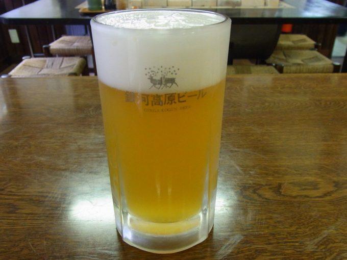 夏油温泉手こね亭で銀河高原ビール