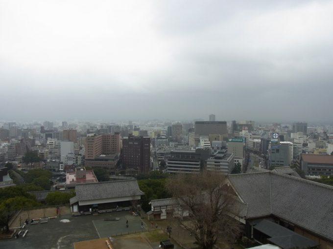 大天守から眺める熊本の街