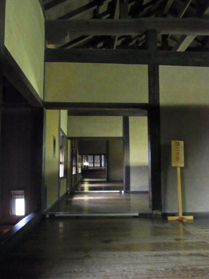 歴史を感じる熊本城宇土櫓内部