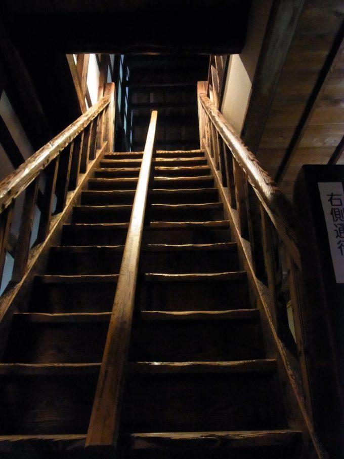 熊本城宇土櫓の急な階段