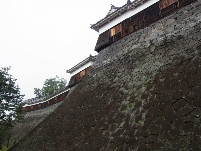 熊本城流麗な石垣と櫓