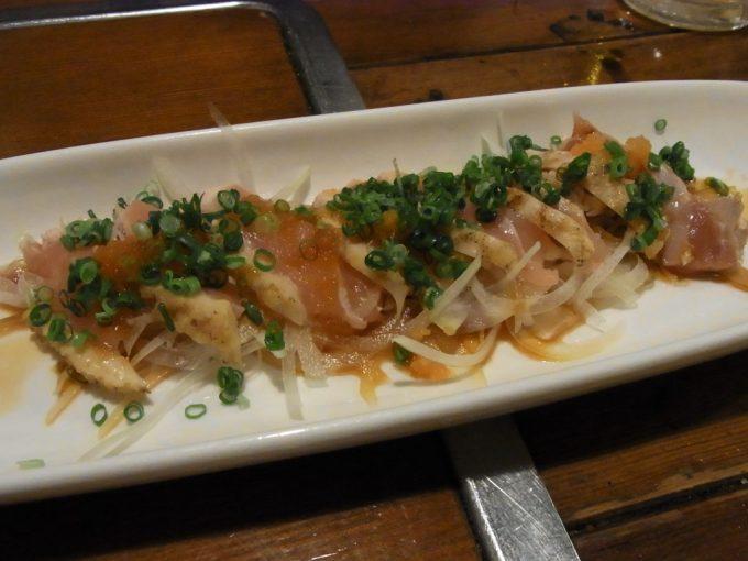 熊本村一番天草大王の鶏ももたたき