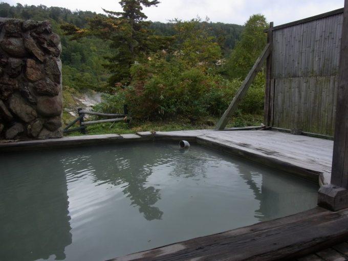秋田八幡平秘湯ふけの湯男子用露天風呂