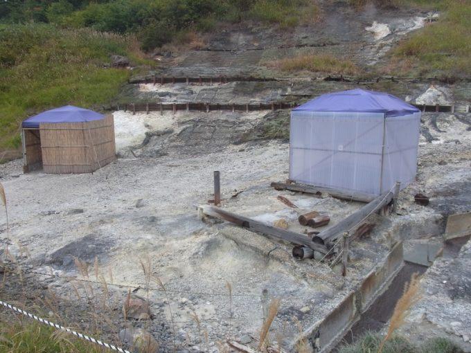 秋田八幡平秘湯ふけの湯地獄の中のオンドル小屋