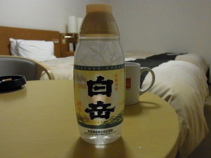 熊本の夜に米焼酎白岳