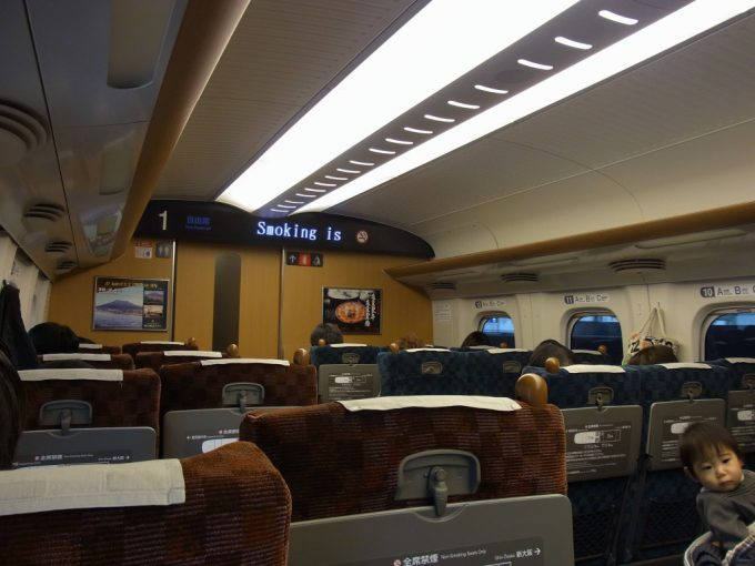 九州新幹線N700系さくら自由席車内