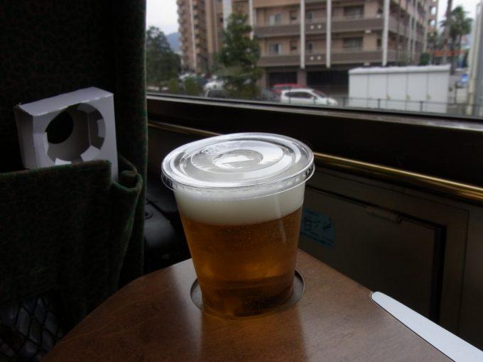 久大本線特急ゆふいんの森Ⅰ世で生ビールを