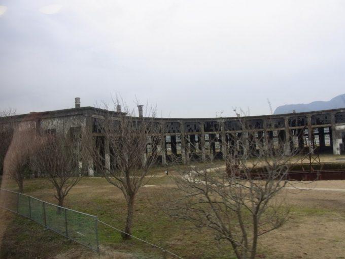 豊後森駅扇形機関庫