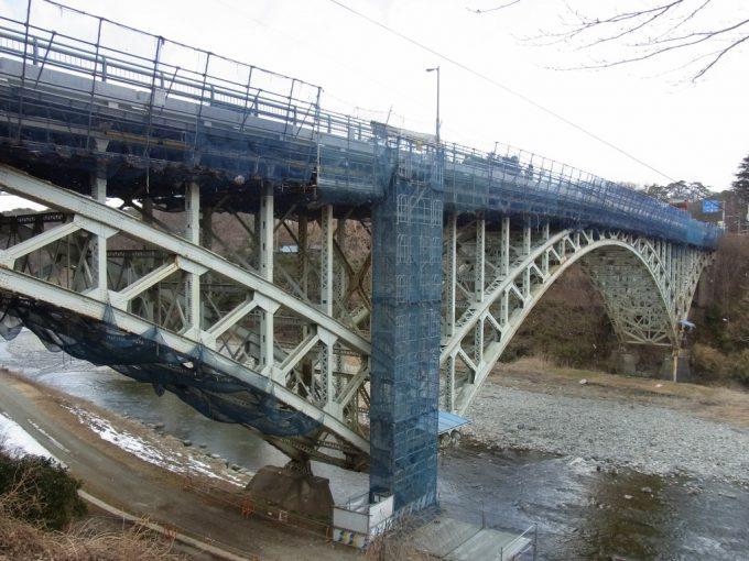改修工事中の晩翠橋