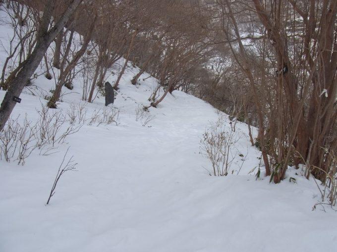 那須温泉神社から殺生石へ雪道を歩く