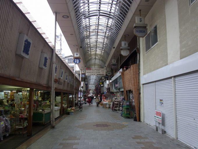 昭和の観光地別府のアーケード