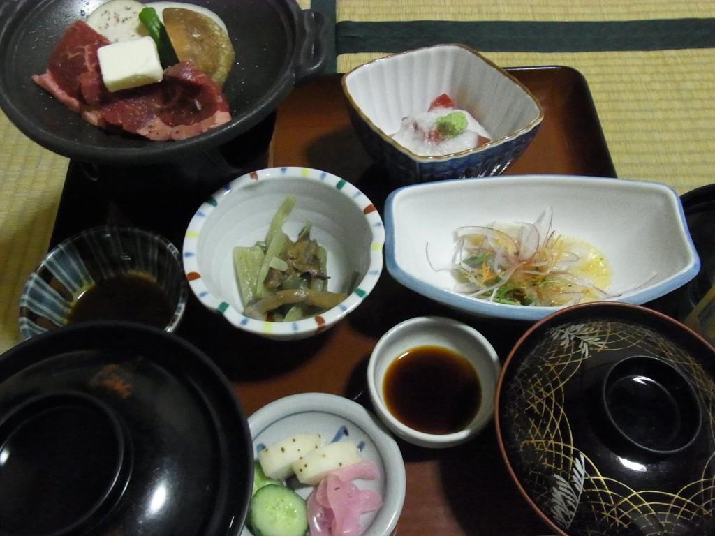 鉛温泉藤三旅館湯治部夕食