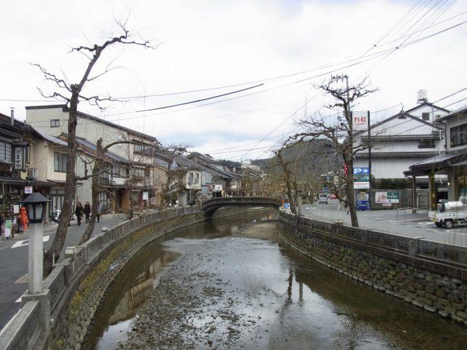 復興によりできた城崎温泉の街並み