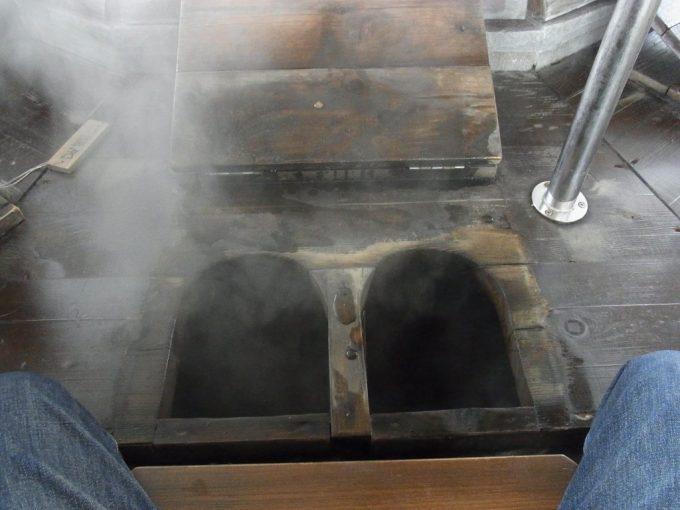別府鉄輪熱くて入れない足蒸し