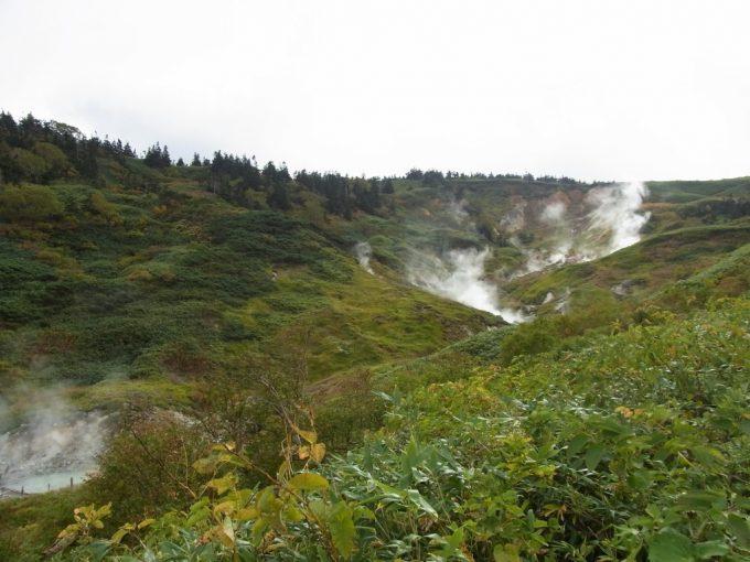藤七温泉彩雲荘源泉の湧く噴煙地