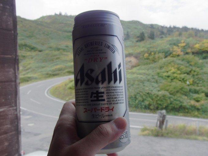 八幡平藤七温泉彩雲荘湯上がりの冷たいビール