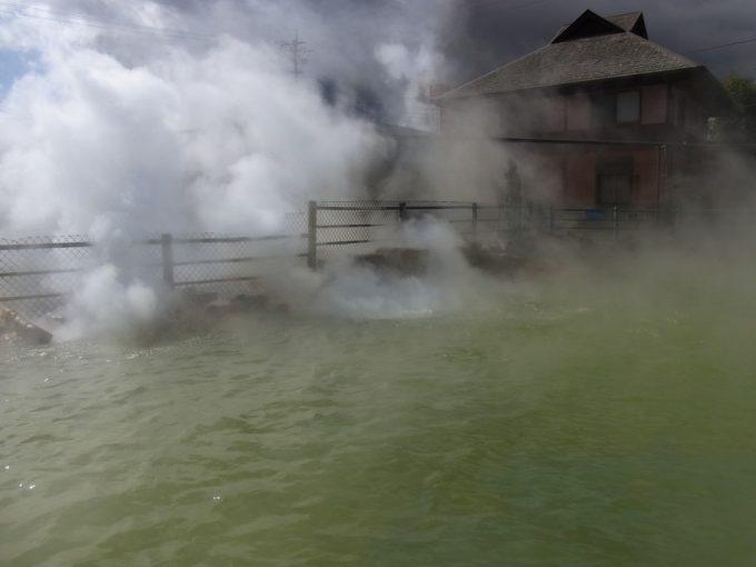 別府地獄めぐり鬼山地獄プールほどの大きさがある温泉池