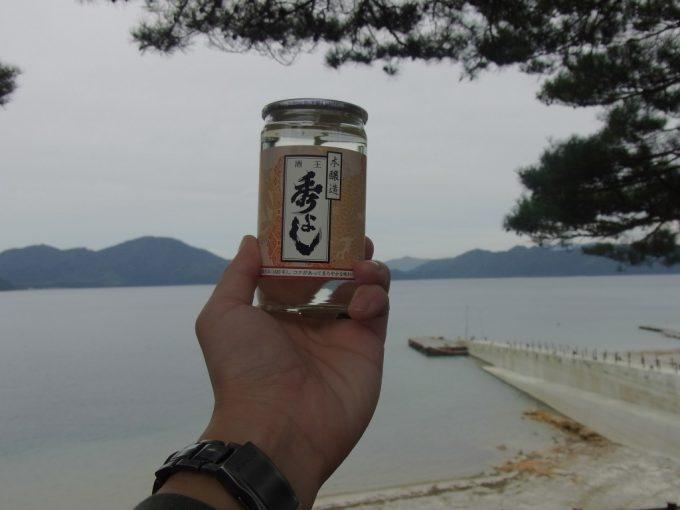 美しい田沢湖を眺めながら秀よしワンカップ