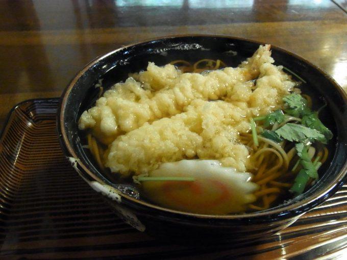 岩手花巻南温泉峡大沢温泉食堂やはぎ田舎そば天ぷら蕎麦