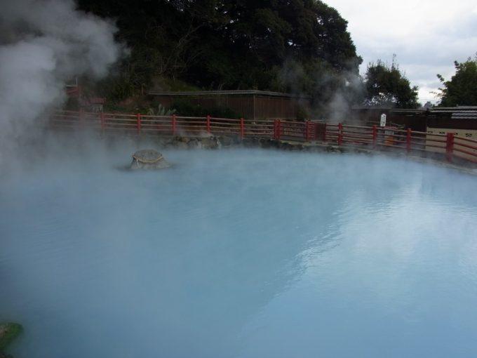 別府地獄めぐりかまど地獄地獄の五丁目青白い池