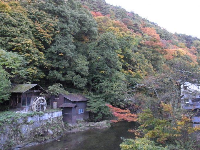 大沢温泉物悲しい秋の夕暮れ