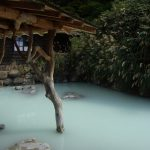 秋田乳頭温泉郷鶴の湯すすきが揺れる秋の露天風呂