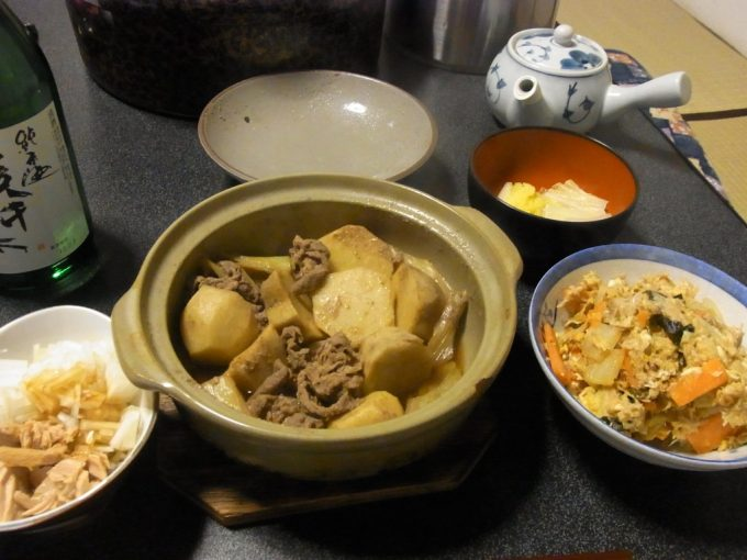 大沢温泉自炊湯治献立二子里芋の芋煮