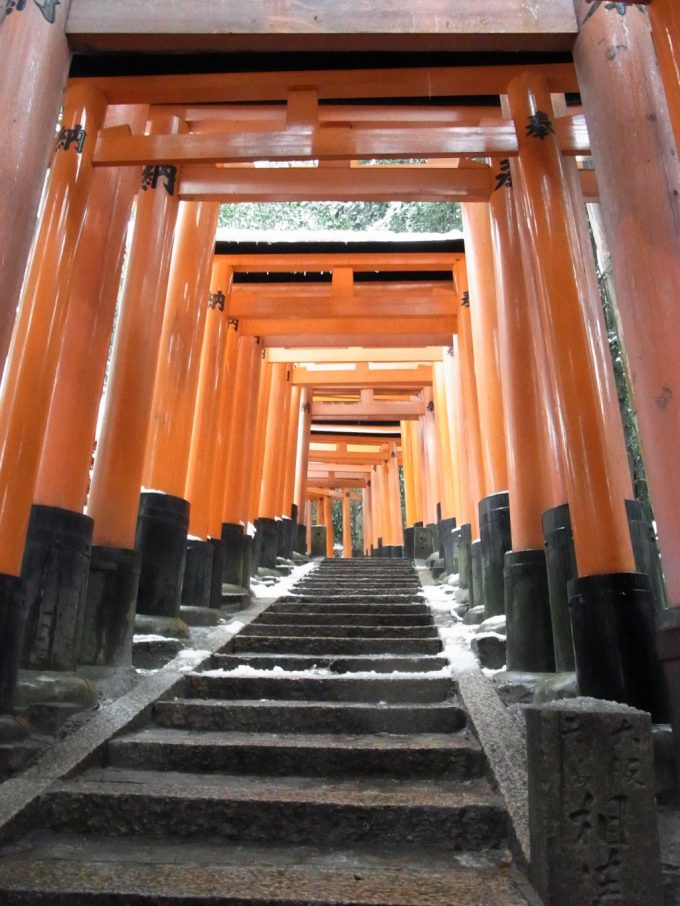 冬の京都伏見稲荷大社山全体が神域