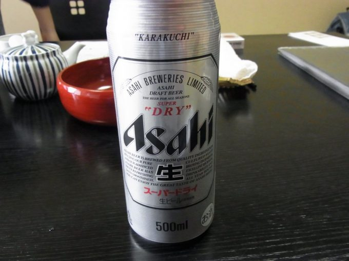 別府鉄輪温泉黒田や湯上がりに冷たいビール