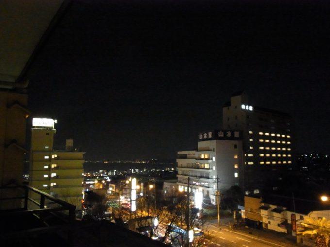 別府鉄輪温泉街の夜景