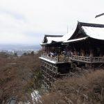 冬の京都雪化粧の清水の舞台