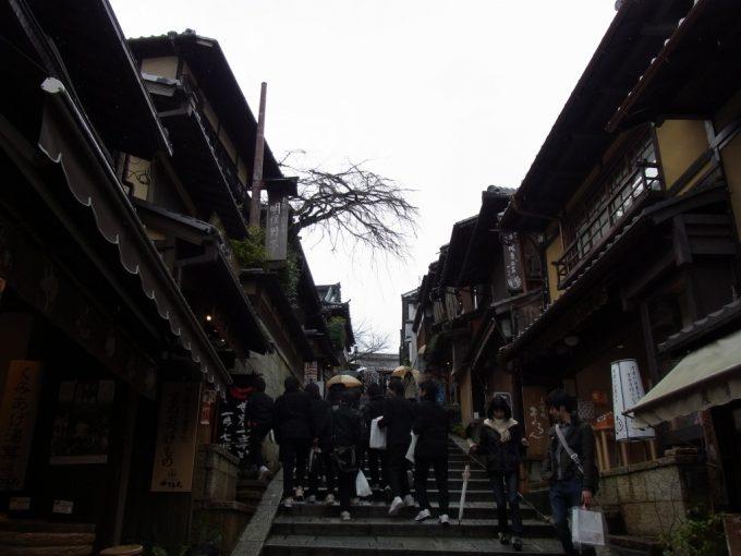 冬の京都懐かしい学ラン姿