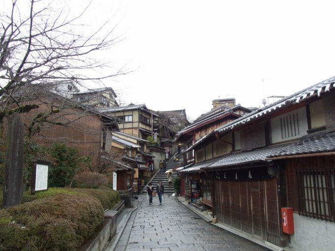 冬の京都しっとりとした街並み