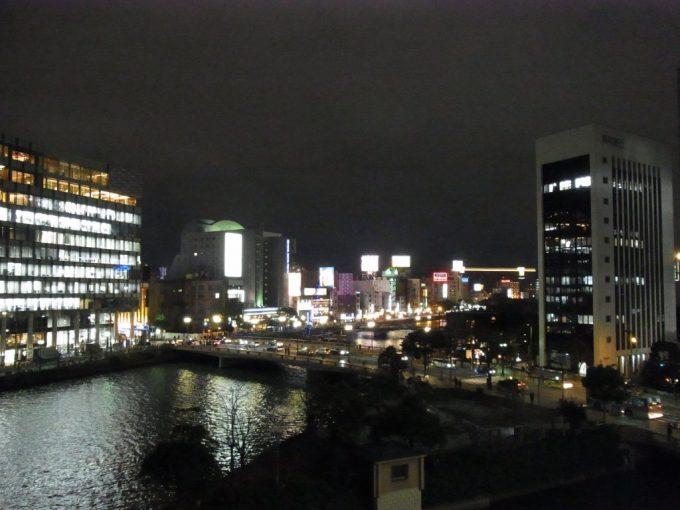 西鉄イン福岡客室から望む博多の夜景