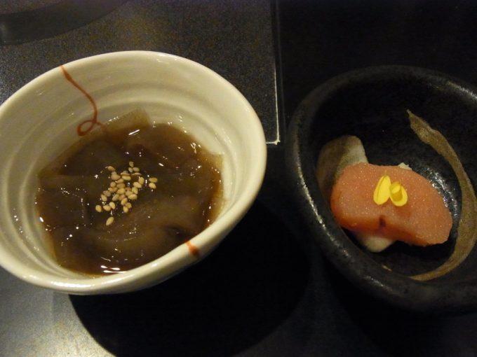 博多水炊き華味鳥中洲本店おきゅうとと自家製明太子