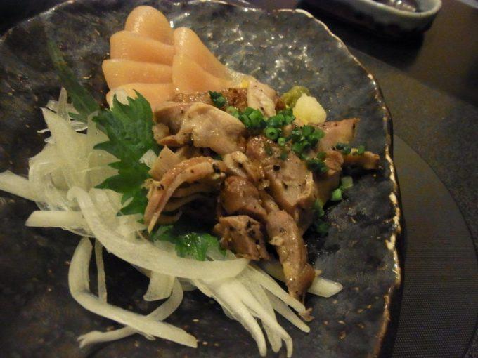 博多水炊き華味鳥中洲本店親鳥のたたきと鶏ハム