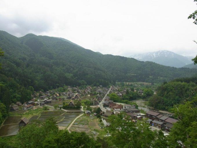 城山展望台から眺める初夏の白川郷合掌造り集落