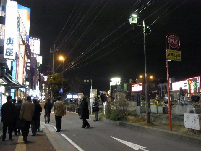 ほろ酔いで歩く夜の中洲