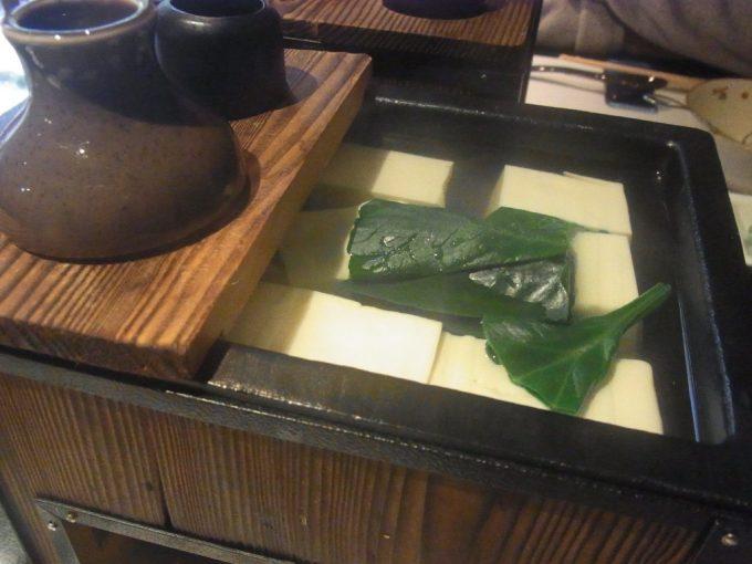 京都祇園うえもり嵐山森嘉の豆腐の湯豆腐