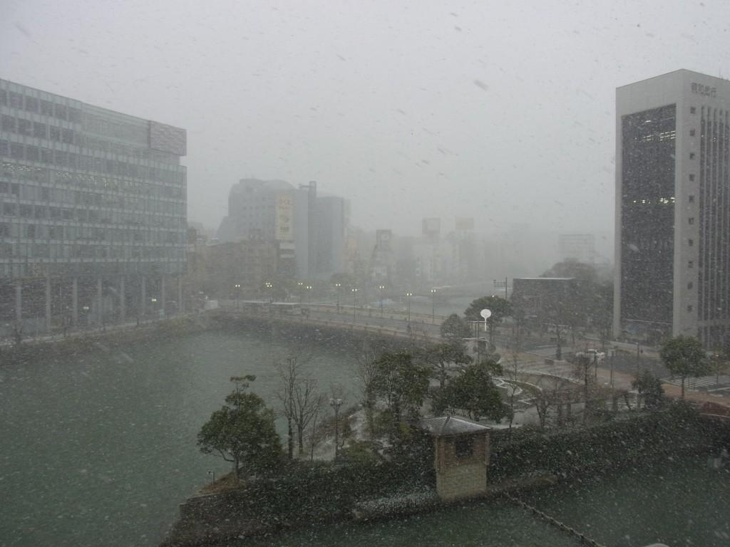 冬の博多雪景色