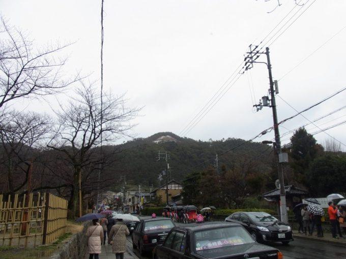冬の京都残雪の大文字